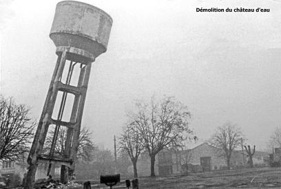Démolition du château d'eau 1