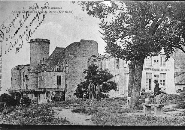 Carte postale du château 1905