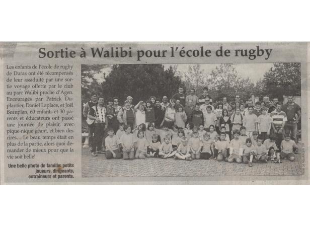ecole de rugby Juin 2008