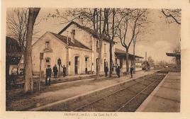 La gare avec les agents