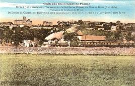 La gare le train le château en couleur