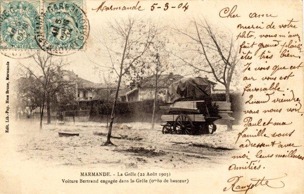 La grèle 22:08:1903