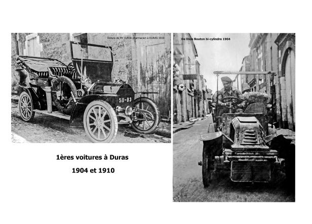 1ères voitures à DURAS