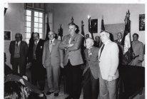 Mairie de Duras 1994 Mr Bordier seul poilu survivant de la guerre 14-18