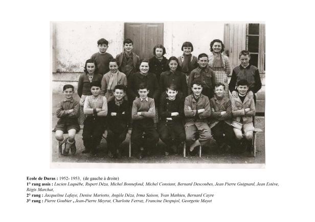 Ecole de Duras CEP 1952-1953