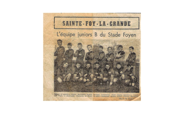 André Laroche équipe rugby Ste Foy