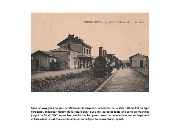 Train de Voyageurs en gare de Miramont de Guyenne