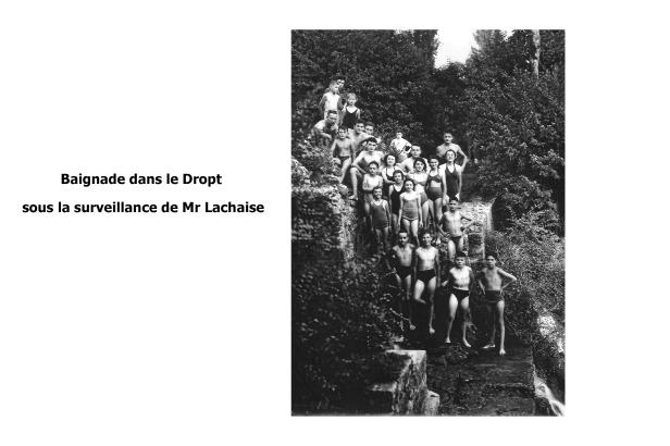 Baignade dans le Dropt sous la surveillance de Mr Lachaise 2
