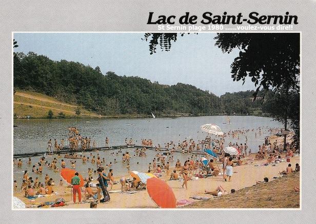 La plage du lac de Castelgaillard 1980 copie