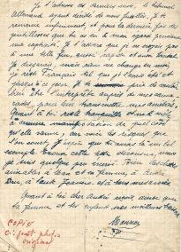 Maurice Dubois lettre à son frère