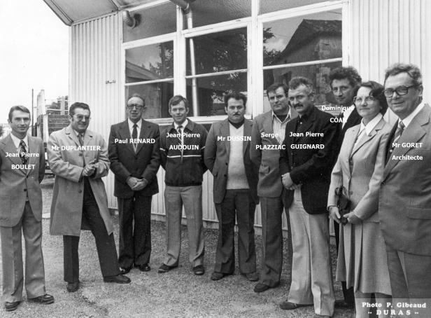 Les artisans de Duras et l'architecte Mr Goret Inauguration de l'atelier du collège 12 octobre 86